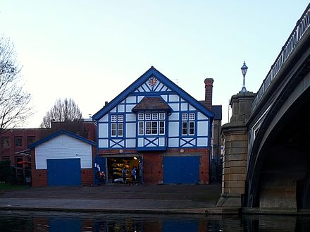 Christ's College Boat Club's boathouse on the River Cam Cambridge boathouses - Christ's.jpg