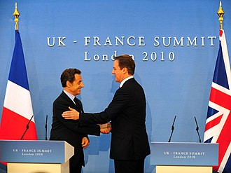 Lancaster House Treaties - Sarkozy and Cameron address the media after signing the Defence and Security Co-operation Treaty.