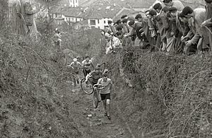 Cyclo-cross - A cyclo-cross race in Oñati, Basque Country, Spain, in 1947