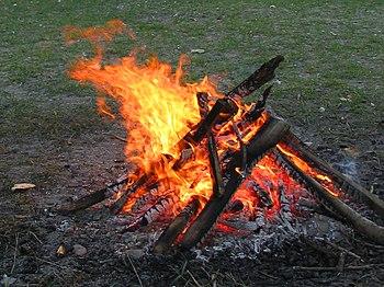 Φωτιά από την καύση ξύλων