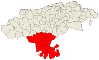 Campoo Comarca in Cantabria, Spain
