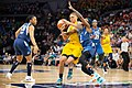 Candice Dupree (4) with the ball is guarded by Danielle Robinson (3) in the Lynx vs Fever game.jpg