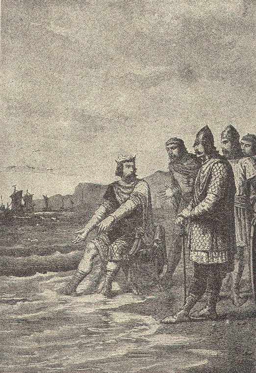 Canute rebukes his courtiers