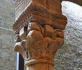Capitell del claustre romànic, museu Diocesà d'Osca.JPG