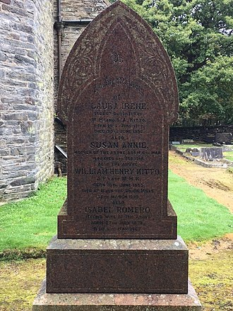 William Kitto - Capt. Kitto's Grave, St Paul's Churchyard, Foxdale, Isle of Man