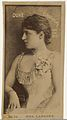 Card Number 33, Mrs. Langtry, from the Actors and Actresses series (N145-6) issued by Duke Sons & Co. to promote Duke Cigarettes MET DP840282.jpg