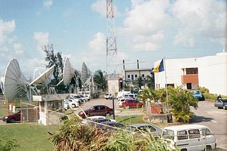 Caribbean Broadcasting Corporation - CBC's multiple satellites next to the ABC Highway.
