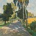 Carl Moll-Tree lined road in Bruntál.jpg