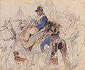 Carl Schindler - Soldatenszene mit Karlskirche im Hintergrund - ca1840.jpeg