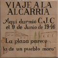 Carlos Chacón (1973) Budia, cerámica conmemorativa de Viaje a la Alcarria.png