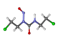 Ball-and-stick model of carmustine molecule