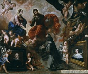 Saint Francis of Assisi in the Porziuncola with the Donors Antonio Contreras and María Amezquita