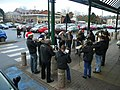 Carols to welcome the shoppers - geograph.org.uk - 1089474.jpg