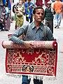 Carpet Vendor in Street - McLeod Ganj - Himachal Pradesh - India (26698737711).jpg