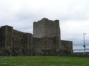 Elizabeth de Burgh, 4th Countess of Ulster - Carrickfergus Castle, Elizabeth's birthplace