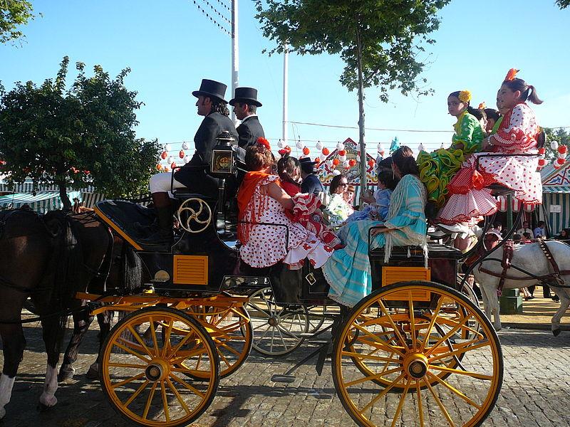 File:Carro de caballos en la Feria de Sevilla.jpg