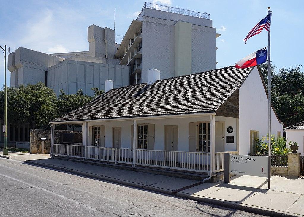 front facade of casa navarro in san antonio texas