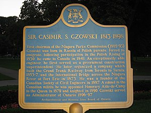 Polish Canadians - Sir Casimir S. Gzowski from Historic Sites of Ontario