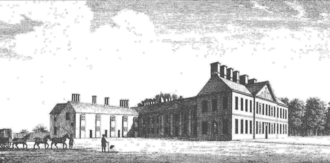 Arthur Capell, 1st Earl of Essex - A 1707 woodcut of Cassiobury House, Watford