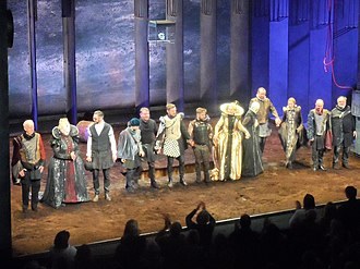 Cast of a 2018 production of Richard III at the Abbey Theatre Cast of Richard III, the Abbey.jpg