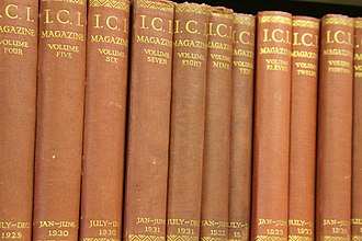 Imperial Chemical Industries - 1930s volumes of ICI magazine