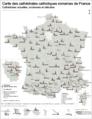 Cathédrales catholiques romaines de France.png