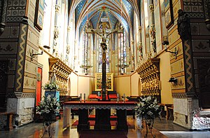 Basilica Cathedral of St. Mary of the Assumption - The presbytery in the cathedral