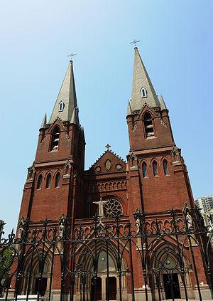 Xujiahui - St. Ignatius Cathedral, Xujiahui, Shanghai.