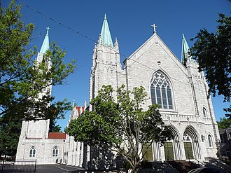 Cathedral of Saint Peter (Kansas City, Kansas) - Main facade of the cathedral.