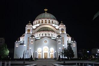 Religion in Serbia - St Sava's Serbian Orthodox Cathedral in Belgrade.
