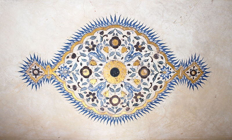 File:Ceiling painting Amber Fort.jpg