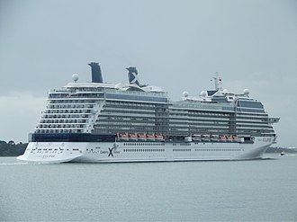 Solstice-class cruise ship - Celebrity Eclipse departing Southampton