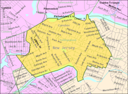 Census Bureau map of Collingswood, New Jersey