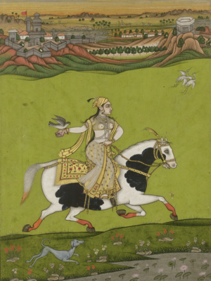 Deccan sultanates - Chand Bibi, an 18th-century painting