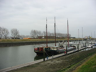 Zierikzee - The channel that connects Zierikzee to Oosterschelde is mainly used by tourist boats.