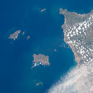 Channel Islands - Satellite photo of the Channel Islands in 2012
