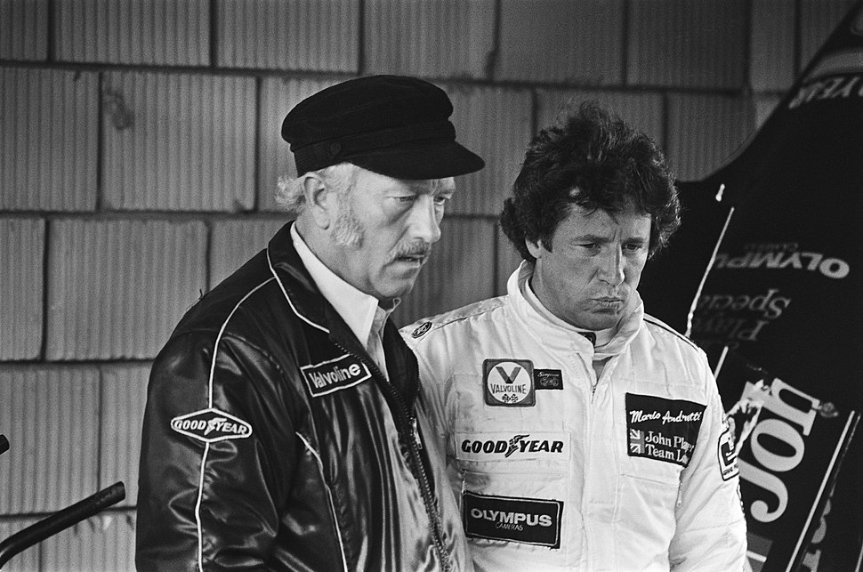 Chapman and Andretti at 1978 Dutch Grand Prix
