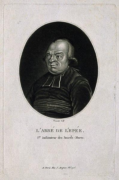 File:Charles Michel, Abbé de l'Epée. Mezzotint by F. Bonneville. Wellcome V0003498.jpg
