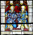Chartres-Chapelle Vendôme-Armes-Louis de Bourbon la Marche, Blanche de Roucy.jpg