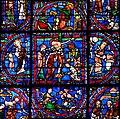 Chartres - Vitrail de la Symbolique de la Passion -4.JPG