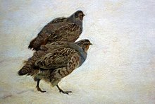 Chełmoński Partridges in the snow (detail).jpg