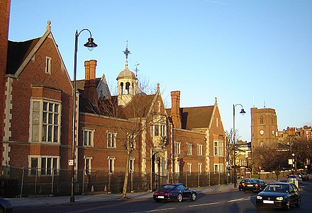 Crosby Hall on Cheyne Walk. Parts of this building date back to the time of Richard III, its first owner. But it is not native to Chelsea - it is a survivor of the Great Fire of London. It was shipped brick by brick from Bishopsgate in 1910 after being threatened with demolition. (January 2006) Chelsea crosby hall 1.jpg