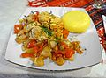 Chicken dish with mamaliga.jpg
