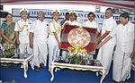 Chief Minister of Tamil Nadu Edappadi K. Palaniswami presenting a memento to the Captain of INS Chennai during dedication ceremony.jpg