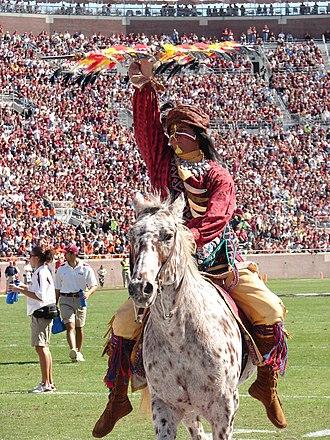 Osceola and Renegade - Osceola riding his horse Renegade, November 4, 2006