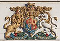 Chief Post Office - British Coat of Arms on the tower, Christchurch, New Zealand.jpg