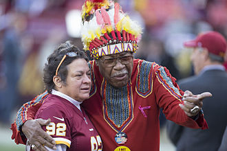 Chief Zee - Chief Zee with a fan at FedEx Field on January 10, 2016