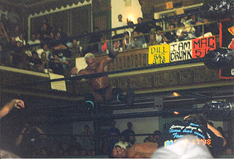 Chris Candido - Candido performing the New Jersey Jam on Lance Storm.