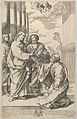 Christ giving the keys of the church to Saint Peter who kneels before him, after Guido Reni MET DP841321.jpg