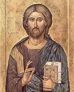 Christ the Pantocrator by Jovan Zograf (1384).jpg